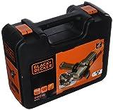 BLACK+DECKER BEG210KAC3-QS Meuleuse d'angle filaire - 3 disques 900W, Noir/Orange