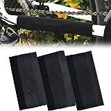 Mantain 3 Pcs Bike Chainstay Protector Bicycle Frame Chain Nylon Protective Guard Pad Black 8.25' x 4'