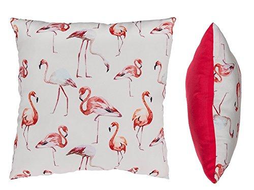 Preis am Stiel Creme - pinkfarbenes Kissen ''Flamingo'' | Sofakissen | Zierkissen | Kuschelkissen | Geschenk für Freundin | Schmusekissen | Dekoration | Geschenk Mama | Geschenk für Freunde
