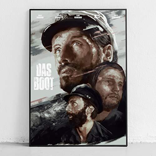 *Gemalt* Das Boot Film Poster 42 x 59,4cm | 170g Hochglanzpapier | Ohne Rahmen