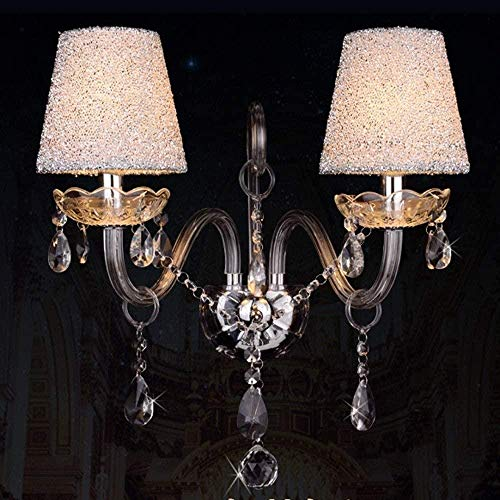 NA Gel Nail Iluminación de Escalera de Villa Lámpara de Pared Interior posmoderna LED Lámpara de Pared de Vidrio de Cristal 45 * 45 Cm Plata