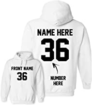 Custom Hoodies - Add Your Name & Number - 2 Side Personalized Sweaters