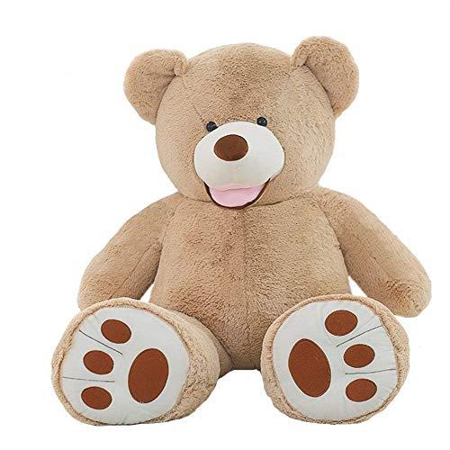 VERCART 11 Foot 133 inch Light Brown Giant Gigantic Large Teddy Bear Stuffed Huge Plush Animal Toy Gift for Kids Friends