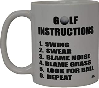 La mejor taza de café divertida del golf Instrucciones de golf Taza de la novedad Broma Gran idea de regalo de la mordaza para el trabajo de oficina Humor para adultos Jefe del empleado Golfistas
