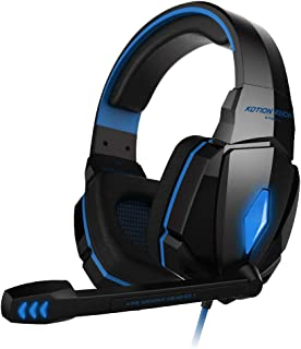 Kotion Each G4000 USB Gaming Headset with Mic and LED (Blue)