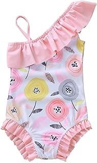 Sayolala Toddler Baby Kids Girl Bikini Swimsuit Set Swimwear Dot Costume Bathing Suit with Hat 1-6 Years