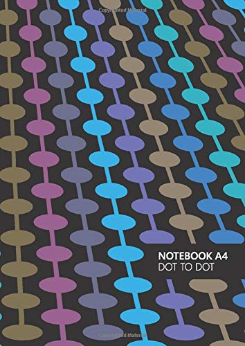 Dot To Dot Notebook - A4: (Sea Night Edition) Fun notebook 192 lined pages (A4 / 8.27x11.69 inches / 21x29.7cm)