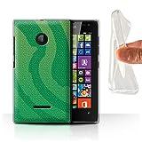 Phone Case for Microsoft Lumia 532 Reptile Skin Effect Pit