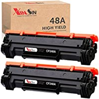 2-Pack XINSIN HP 48A Compatible High Yield Black Toner Cartridge Replacement