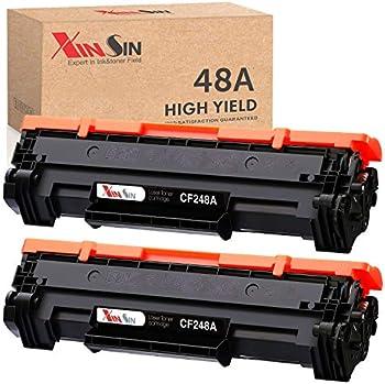 2-Pack XINSIN HP 48A Compatible High Yield Black Toner Cartridge