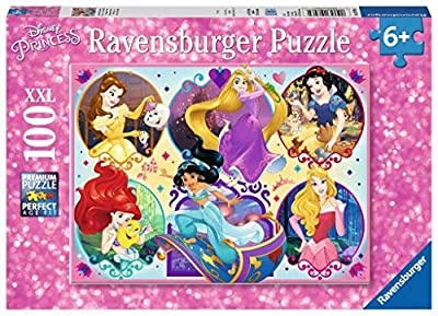 Ravensburger 10796 Disney Princesses - 100 Piece Jigsaw Puzzle for Kids – Every Piece is Unique, Pieces Fit Together Perfectly