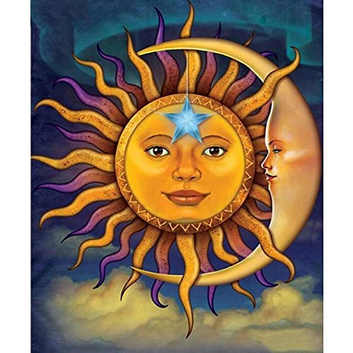 Puzzle 1000 Pezzi Sun Moon Mandala Picture Art Gift Painting Puzzle 1000 Pezzi clementoni Puzzle educativi intellettuali decompressivi giocattolo50x75cm(20x30inch)
