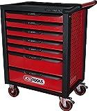 KS Tools 826.0007 RACINGline SCHWARZ/ROT Werkstattwagen mit 7 Schubladen