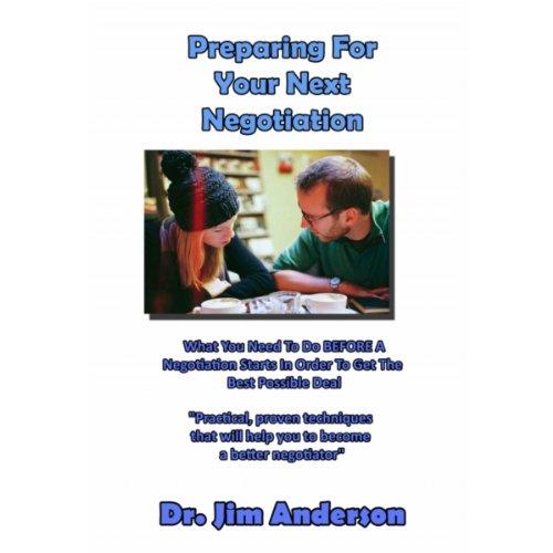 Preparing for Your Next Negotiation audiobook cover art