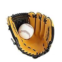 少年野球 軟式 グローブ 10インチPVC右手野球グローブ子供子供のソフトボール野球トレーニンググローブ (色 : 褐色, Size : 10 inch)