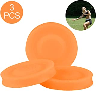 Sokey Frisbee Kids Flying Disc Toy Outdoor Playing Lawn Game Disk Flyer Frisbee for Kindergarten Teaching Soft Silicone 3/6Pcs