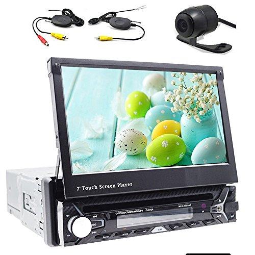Achteruitrijcamera inbegrepen. Autoradio, Bluetooth auto-dvd-/cd-speler, GPS-navigatie, 7 inch scherm, afneembaar, stuurwielbesturing.