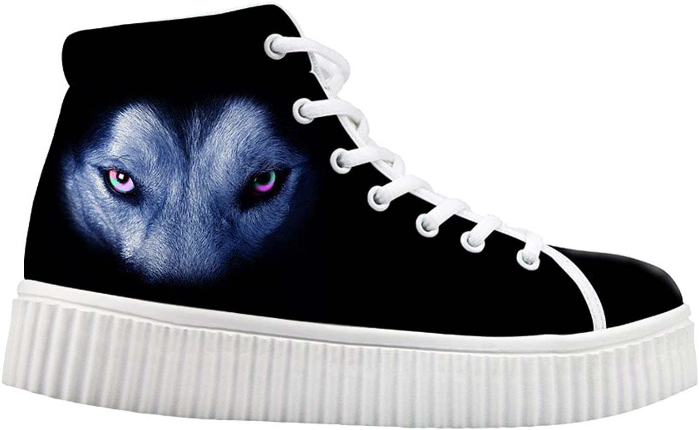 Mumeson Fashion Animal Print Black Casual shoes Platform Sneakers US 5-11