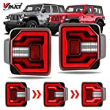 Renegade Series by Winjet Compatible with [2018 2019 2020 Wrangler JL] DRL LED Sequential Tail Lights (Red)