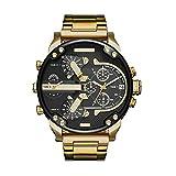AIUIN Männer Herren Armbanduhr Edelstahl Analog Quarzuhr Lederband Luxus Uhr Herren Sport Quarzuhr mit großem Zifferblatt Uhr für Herren (Color 4)