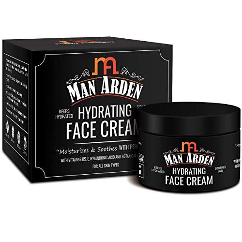 Man Arden Hydrating Face Cream For Men, 50g - With Vitamin B5, Hyaluronic Acid For Skin Moisturization