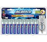ACDelco 20-Count AA Batteries, Maximum Power Super Alkaline Battery, 10-Year Shelf Life