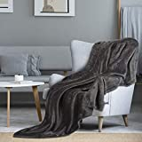 i@HOME Kuscheldecke Grau Decke Sofa Flauschig und Plüsch Decken Fleecedecke als Sofadecke Couchdecke Wohndecke Weiche & Warme Sofaüberwurf Decke Wohndecken Kuscheldecken 200x220 cm