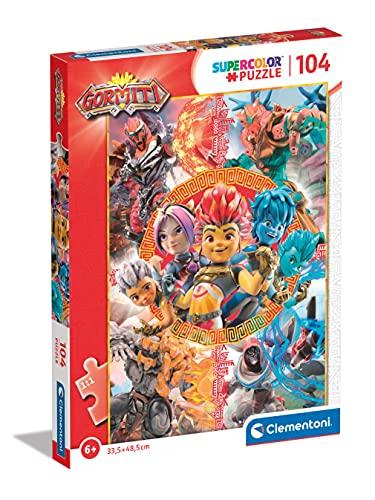 Clementoni Supercolor Gormiti 104 pezzi-Made in Italy bambini 6 anni puzzle cartoni animati, Multicolore, 27552