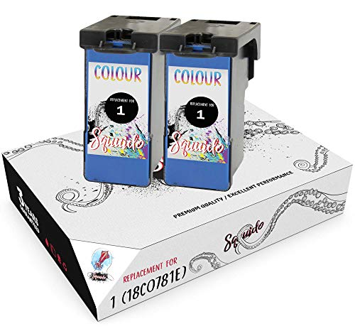Squuido 2 Remanufactured Cartuchos de Tinta 1 18CX781 Tricolor compatibles con Lexmark X2300 X2310 X2315 X2320 X2330 X2340 X2350 X2360 X2390 X2450 X2470 X2480 X3450 X3470 Z730 Z735 | Alto Rendimiento