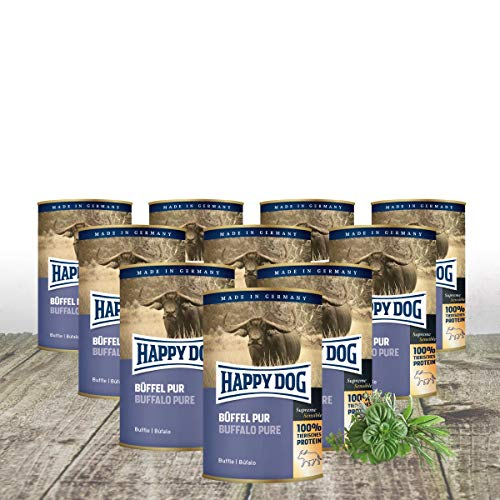 Happy Dog - Dose Büffel PUR 10 x 400 g + 2 gratis