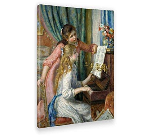 Giallobus - Cuadro - Impresion EN Lienzo - Renoir - Dos Chicas JÓVENES AL Piano - 70 x 100 CM