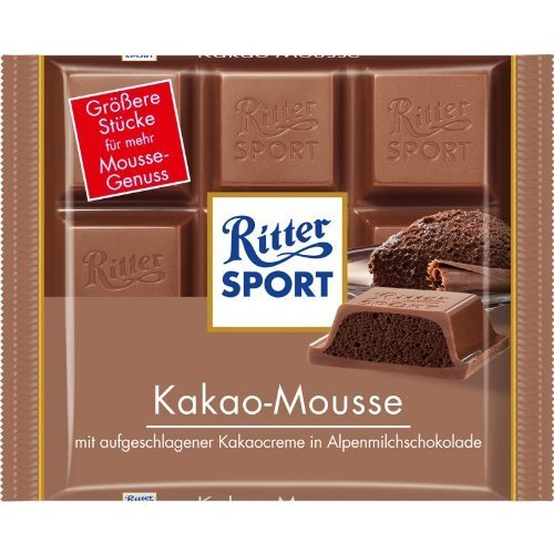 Ritter Sport Kakao-Mousse (3 Bars each 100g) - fresh from Germany by Ritter Sport