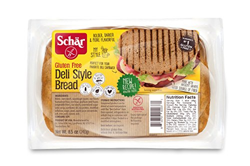 Schar Gluten Free Deli-Style Bread, 8.5 Oz Pack. Gluten Free Sourdough Bread, Gluten Free Sandwich Bread, 5 PACKS PER CASE