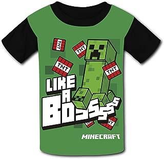 QIANBAIHUI Kids Youth Green Monster 3D Printed O-Neck T-Shirt Tees