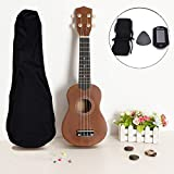 Generic 21 Inch Acoustic Soprano Hawaii Ukulele With Guitar Tuner And Gig Bag