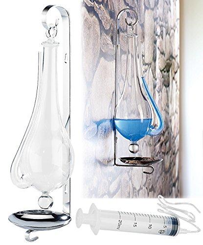 infactory Glasbarometer: Historisches Goethe-Barometer aus Glas (Goetheglas)