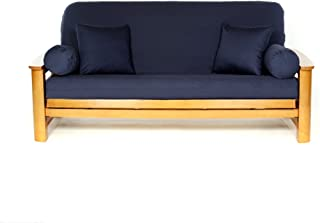 Lifestyle Covers 100 % Cotton Navy Full Size Futon Cover