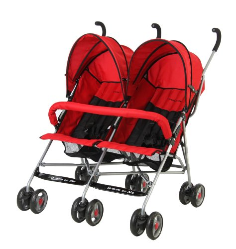 Lowest Price! Dream On Me Double Twin Stroller, Red
