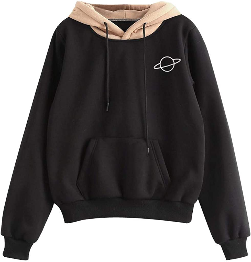 Sweatshirts for Women, Womens Cute Graphic Long Sleeve Hoodie and Sweatshirt Casual Loose Crewneck Pullover Tops