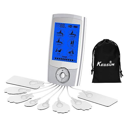KEDSUM Rechargeable 16 Modes Tens Unit with 8 Pads, Pain Relief Machine Electric Pulse Impulse