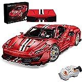 Technic Building Blocks CADA C61042w Auto Ferrari 488 Pista, 3187 Terminal Set 1: 8 2.4G Modelo De Automóvil Deportivo Con Motores Y Juguetes De Construcción De Control Remoto red,50 * 25 * 13cm