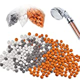 120 Grams Replacement Anion Mineral Beads Stones Balls, Mineral Stone Beads for Filter Showerhead Purifying Water, 3 Kinds (Diameter 7-8 mm)