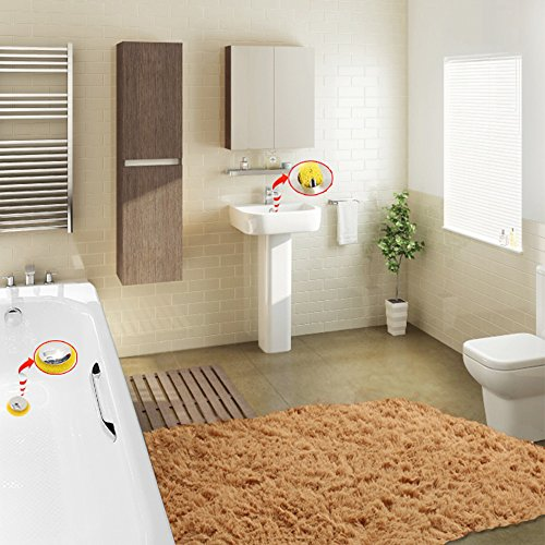 FATHER.SON Drain Bathtub wash Basin Washing Basin Drain Hair Catcher Anti Clogging Sponge,Catch All The odds and Ends