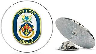 US Navy USS Cole DDG-67 Military Veteran USA Pride Served Gift Metal 0.75