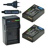 Chili Power CP de E10Kit; 2x Batería (1150mAh) + Cargador para Canon EOS 1100d, EOS Rebel T3, EOS Kiss X50