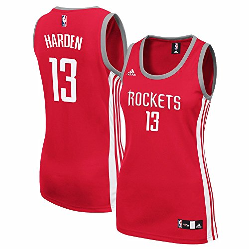 adidas James Harden Houston Rockets Womens Player Jersey (Red) Small