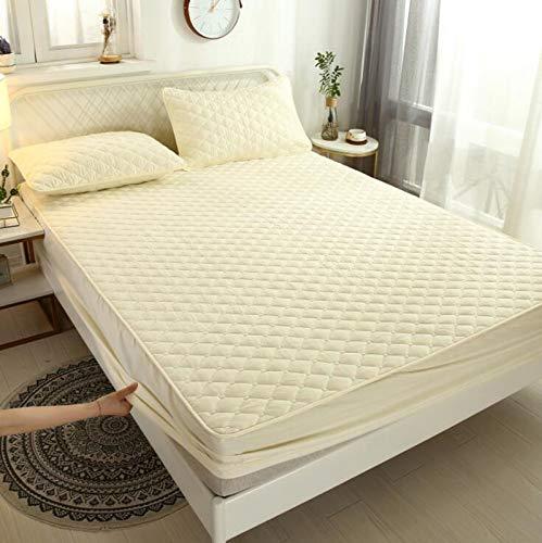 Schede del materasso Lettone impermeabile Lante letto puro cotone trapuntato in puro Bambino da taglio antirumore Simmons Simmons Soffisso Protezione del materasso Copertura della biancheria per la bi
