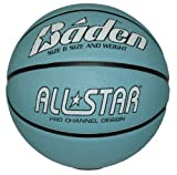 Baden Women's Light All Star Deluxe Rubber Basketball, Indoor and Outdoor Ball, Blue and White, Size 6