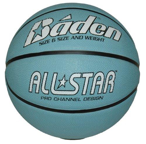 Baden Unisex All - Pelota de Baloncesto, tamaño 6, Color Azul/Blanco