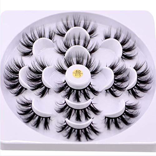 SALLM 7 pairs natural false eyelashes fake lashes long makeup 3d lashes eyelash extension eyelashes,MDR-X15,CHINA
